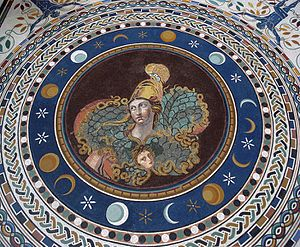 Palladium (classical antiquity) - A 3rd-century Roman Pallas Athena mosaic from Tusculum, now in the Vatican Museums