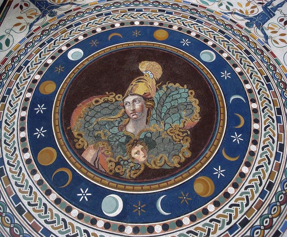 Pallas-athena-roman-mosaic