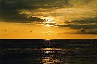 Sunset at Panambur beach in Mangalore