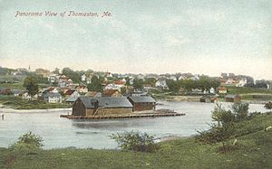 Thomaston, Maine - Panoramic view in 1908