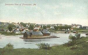 Thomaston, Maine - Panoramic view in 1908
