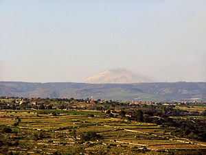 Hyblaean Mountains - Panorama of the Hyblaean Mountains.