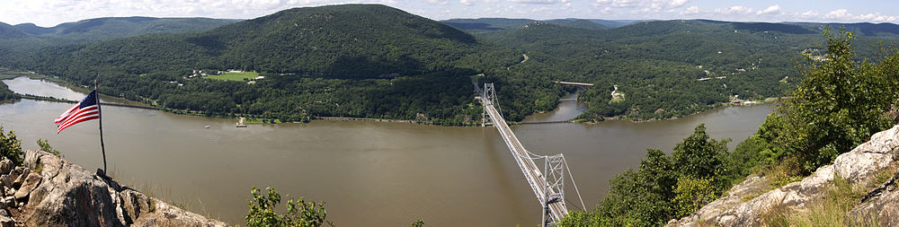Panoramic View of Bear Mountain Bridge from Anthony's Nose