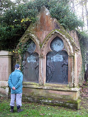 James Young (chemist) - The memorial to James Young and his wife Mary is sited in the old Inverkip churchyard, at the north end of the mausoleum of the Shaw-Stewart Baronets.