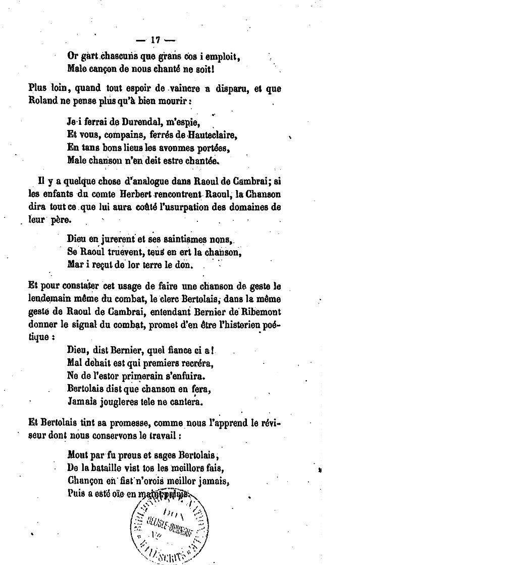 Pageparis Paulin Les Chansons De Geste Poèmes Du Xiie