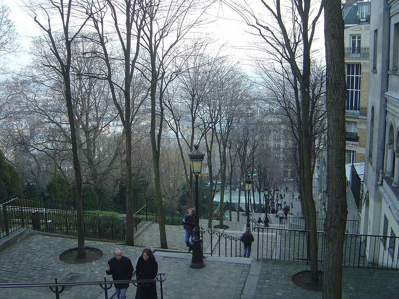 Fichier:Paris Montmartre escaliers funiculaire dsc07297.jpg