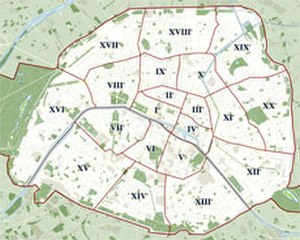 Place de Clichy - Image: Paris plan wee green jms