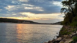 Sunset on Dardanelle Lock and Dam, taken on July 29, 2013 by a USACE ranger.