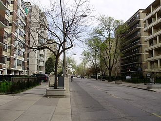 Parkdale, Toronto - Apartment complexes, such as those lining Jameson Avenue, are home to many of the neighbourhood's residents.