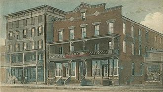 Woodsville, New Hampshire - The Parker House and the Hotel Wentworth c. 1908