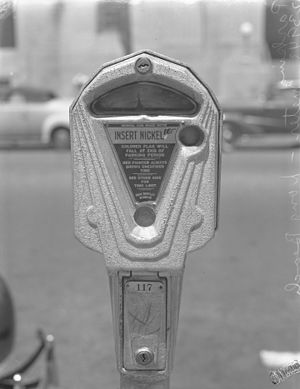 Parking meter - Parking meter ca. 1940