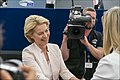 Parliament elects Ursula von der Leyen as first female Commission President (48300817176).jpg