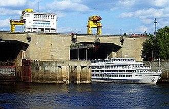 Votkinsk Reservoir - Tchaikovsky shipping lock.