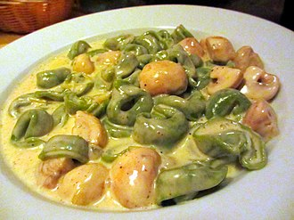 Belden Place - A pasta dish on Belden Place