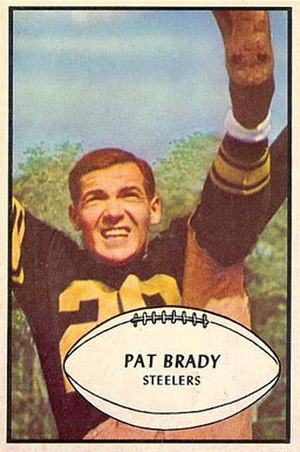 Pat Brady (American football) - Brady on a 1953 Bowman football card