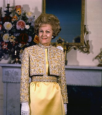 Pat Nixon - Pat Nixon posing in the White House, 1970