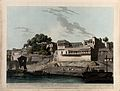 Patna seen from the Ganges, Bihar. Coloured aquatint by Thom Wellcome V0050469.jpg