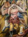 Paul Kleinschmidt Kusshand werfende Zirkustänzerinnen 1927.png
