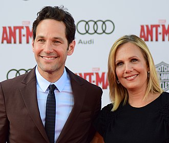 Paul Rudd - Rudd at the world premiere of Ant-Man in June 2015 with his wife Julie Yaeger
