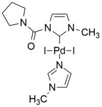 An example of palladium(II) derived complex with N-heterocyclic ligand