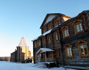 Pechenga Monastery - Buildings at the rebuilt monastery (2014)