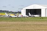 Pel-Air (VH-AJJ) IAI Westwind 1124, (VH-SLF) Learjet 36A and (VH-AJG) IAI Westwind 1124 parked at Wagga Wagga Airport.jpg
