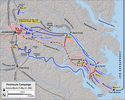 Peninsula Campaign March 17 - May 31, 1862