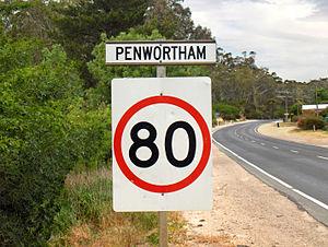 Penwortham, South Australia - Northern entrance sign along Horrocks Highway
