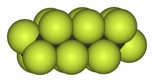 Perfluorohexane - Image: Perfluorohexane 3D vd W