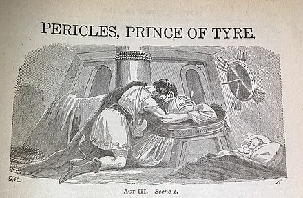 A lithograph image depicting a scene from Pericles Prince of Tyre Pericles Prince of Tyre Lithograph.jpg