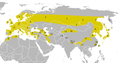 Periparus ater distribution map.png