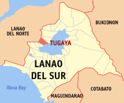 Map of Lanao del Sur with Tugaya highlighted