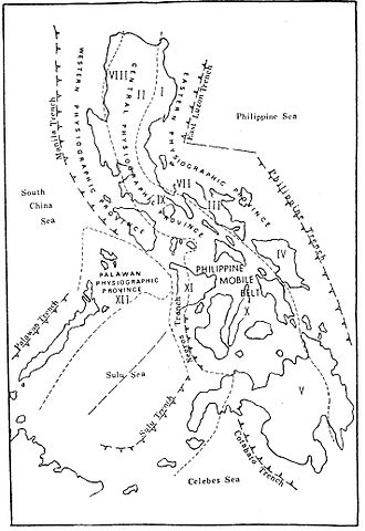 Philippine Mobile Belt - Major physiographic elements of the Philippine Mobile Belt