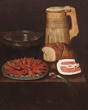 Philips Angel I - Still life with crayfish, Museum Bredius.