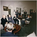 Photograph of President John F. Kennedy's Meeting with the Soviet Ambassador and Ministers at the White House - NARA - 194217.tif