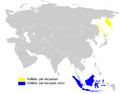 Phylloscopus examinandus distribution map.png