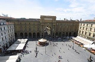 Piazza della Repubblica, Florence square in Florence, Italy