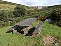Picnic table below the Avon Dam - geograph.org.uk - 1470041.jpg