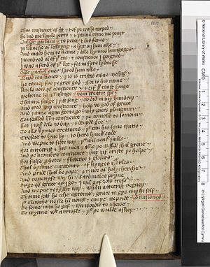 Piers Plowman - Piers Plowman from the early-15th century manuscript in the National Library of Wales