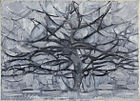 "Piet Mondrian painting ""Gray Tree"", 1911, in the Gemeentemuseum Den Haag"