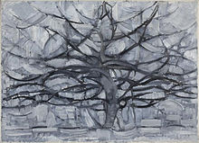 Piet Mondrian painting Gray Tree, 1911, in the Gemeentemuseum Den Haag