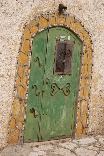 דלת ירוקה בעיר העתיקה בצפת