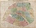Plan actuel en 20 arrondissements dans un rayon de 7 kilomètres, 1872 - Bibliothèques spécialisées Paris.jpg