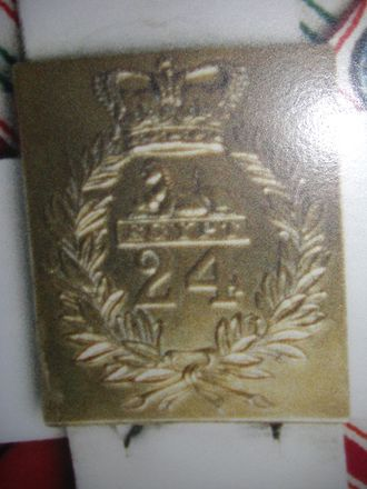 South Wales Borderers - Plaque 24th Regiment of Foot in Quebec, Canada, dating to 1840