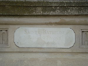 Reines de France et Femmes illustres - Image: Plaque Sainte Bathilde