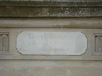 Reines de France et Femmes illustres - Image: Plaque Sainte Bathilde