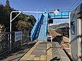 Platform of Nagao Station (Sasebo Line) 2.jpg
