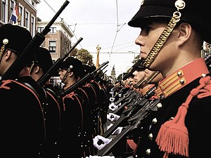Netherlands Marine Corps - Marines in The Hague wearing ceremonial uniforms