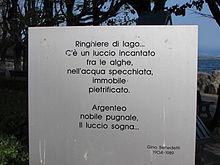 Poesia dedicata al luccio a Desenzano del Garda