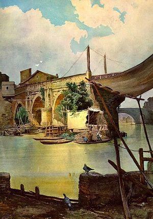 Ettore Roesler Franz - Ponte Rotto in Rome